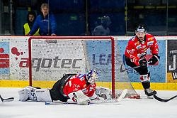 01.02.2019, Ice Rink, Znojmo, CZE, EBEL, HC Orli Znojmo vs EC Red Bull Salzburg, 43. Runde, im Bild v.l. Teemu Tapio Lassila (HC Orli Znojmo) C.J. Stretch (HC Orli Znojmo) // during the Erste Bank Eishockey League 43th round match between HC Orli Znojmo and EC Red Bull Salzburg at the Ice Rink in Znojmo, Czechia on 2019/02/01. EXPA Pictures © 2019, PhotoCredit: EXPA/ Rostislav Pfeffer