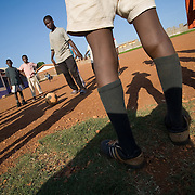 Children practicing football in Accra, Ghana.
