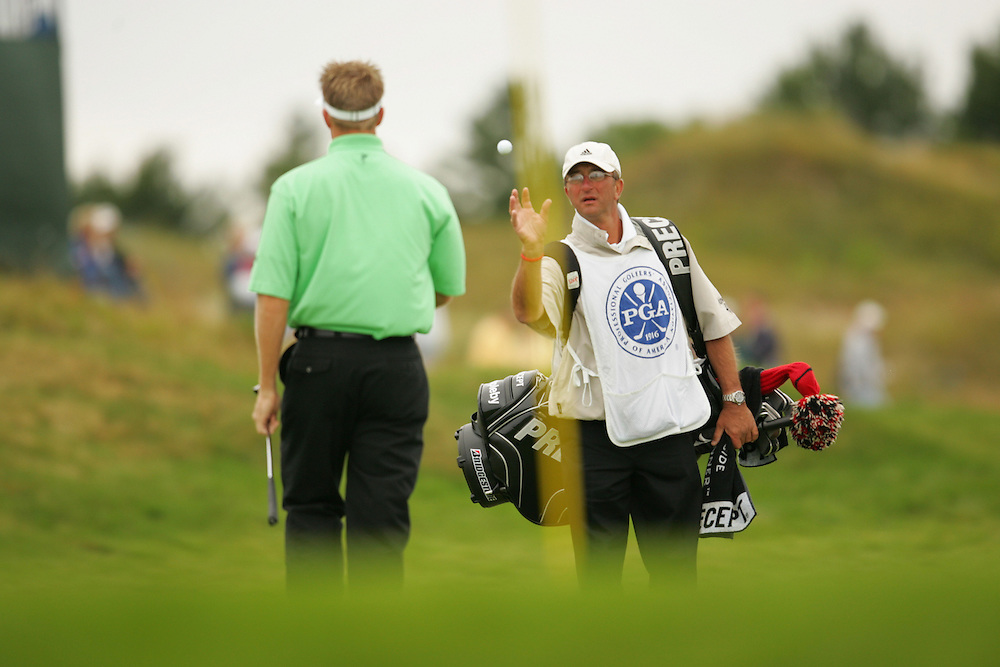 Stuart Appleby.Joe Damiano (caddie)..2004 PGA Championship.Second Round.Whistling Straits.Haven, WI.Friday, August 13 2004..photograph by Darren Carroll