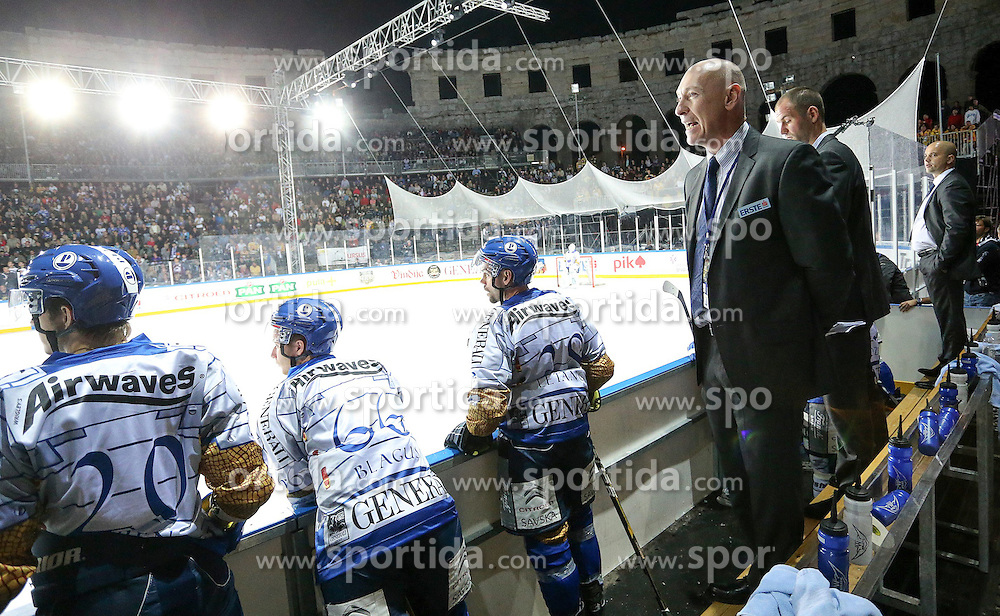 16.09.2012, Amphitheater, Pula, CRO, EBEL, Ice Fever, KHL Medvescak Zagreb vs UPC Vienna Capitals, 04. Runde, im Bild Marty Raymond // during the Erste Bank Icehockey League 04th Round match betweeen KHL Medvescak Zagreb and UPC Vienna Capitals at the Amphitheater, Pula, Croatia on 2012/09/16. EXPA Pictures © 2012, PhotoCredit: EXPA/ Pixsell/ Igor Kralj ***** ATTENTION - OUT OF CRO, SRB, MAZ, BIH and POL *****