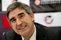 Jordi Bertomeu, Euroleague Basketball CEO at press conference prior to the basketball match between KK Union Olimpija (SLO) and Armani Jeans Milano (ITA) in Group D of Turkish Airlines Euroleague, on December 2, 2010 in SRC Stozice, Ljubljana, Slovenia. (Photo By Vid Ponikvar / Sportida.com)