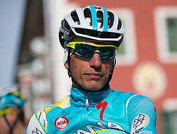 16.04.2013, Hauptplatz, Lienz, AUT, Giro del Trentino, Etappe 1, Lienz nach Lienz, im Bild Paolo Tiralongo (Astana Pro Team) // during stage 1, Lienz to Lienz of the Giro del Trentino at the Hauptplatz, Lienz, Austria on 2013/04/16. EXPA Pictures © 2013, PhotoCredit: EXPA/ Johann Groder