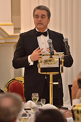 © Licensed to London News Pictures. 17/10/2018. London, UK.  Roberto Azevêdo, Director-General of the World Trade Organisation gives a keynote speech during the International Trade Banquet at Mansion House. Photo credit: Ray Tang/LNP