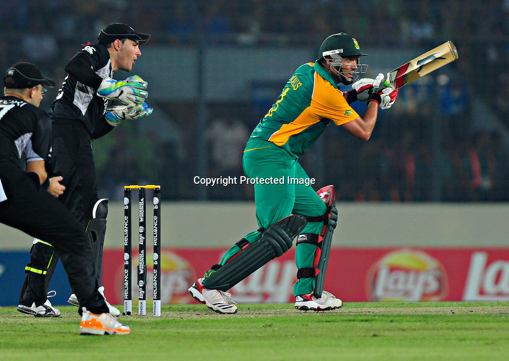 Jacques Kallis of South Africa  during the ICC Cricket World Cup quarter final match between South Africa and New Zealand held at the Shere Bangla National Stadium, Mirpur, Bangladesh on the 25 March 2011..Photo by SPORTZPICS