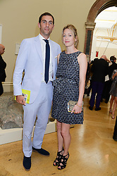 HUGH VAN CUTSEM and ROSE VAN CUTSEM at the preview party for The Royal Academy Of Arts Summer Exhibition 2013 at Royal Academy of Arts, London on 5th June 2013.
