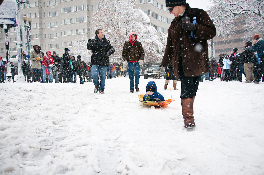The Washington, DC region was paralyzed by a blizzard that dumped more than two feet of heavy snow during the first week of February 2010, knocking out power for hundreds of thousands of people, toppling trees and reducing many streets to pedestrian pathways.