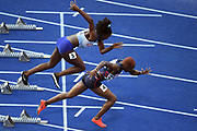 Orphee Neola competes in women 100m during the European Championships 2018, at Olympic Stadium in Berlin, Germany, Day 1, on August 7, 2018 - Photo Philippe Millereau / KMSP / ProSportsImages / DPPI