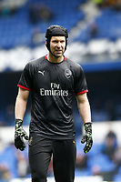 Football - 2018 / 2019 Premier League - Everton vs. Arsenal<br /> <br /> Arsenal keeper Petr Cech in the warm up before today's game, at Goodison Park.<br /> <br /> COLORSPORT/ALAN MARTIN