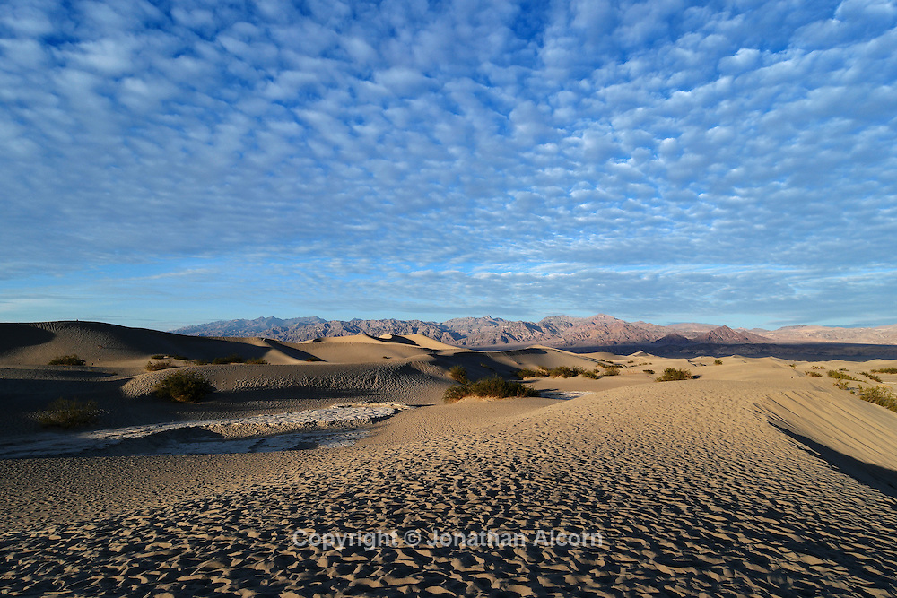Hi clouds above the Eureka Sand Dunes on January 10, 2015 in Death Valley, California