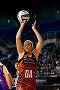 Anna Thompson of the Tactix shoots during the ANZ Netball Premiership match, Tactix v Northern Stars, Horncastle Arena, Christchurch, New Zealand, 21st Febuary 2017.Copyright photo: John Davidson / www.photosport.nz
