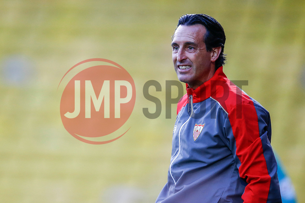 Sevilla manager Unai Emery is animated during the first half - Mandatory by-line: Jason Brown/JMP - Mobile 07966 386802 31/07/2015 - SPORT - FOOTBALL - Watford, Vicarage Road - Watford v Sevilla - Pre-Season Friendly