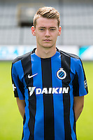 Club's Sander Coopman poses for the photographer during the 2015-2016 season photo shoot of Belgian first league soccer team Club Brugge, Friday 17 July 2015 in Brugge