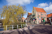 Old harbour and waterside historic buildings, Enkhuizen, Netherlands