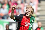 NIJMEGEN - NEC - Roda JC, Eredivisie, seizoen 2010-2011, 01-05-2011, Galgenwaard, NEC speler Bjorn Vleminckx heeft de 1-0 gescoord.