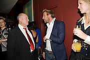 LOUIS DE BERNIERES; BEN FOGLE; MARINA FOGLE, Louis de Bernires - party to promote tourism in the Greek islands. GROUCHO CLUB, DEAN ST. LONDON.  12 November 2008.  *** Local Caption *** -DO NOT ARCHIVE -Copyright Photograph by Dafydd Jones. 248 Clapham Rd. London SW9 0PZ. Tel 0207 820 0771. www.dafjones.com