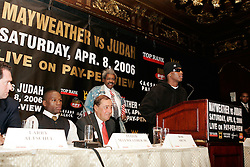 IBF Welterweight Champion Zab Judah at the press conference announcing his upcoming fight against Floyd Mayweather.  The fight will take place on April 8, 2006 in Las Vegas.