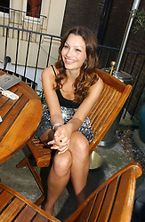SARA PHILIPPIDIS at the Tatler Summer Party 2006 in association with Fendi held at Home House, Portman Square, London W1 on 29th June 2006.<br /><br />NON EXCLUSIVE - WORLD RIGHTS