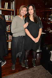 STUART SEMPLE and EMILY MANN at a party to celebrate Stuart Semple as artist in residence at The Bulgari Hotel held at Il Bar, Bulgari Hotel, 171 Knightsbridge, London on 14th October 2015.
