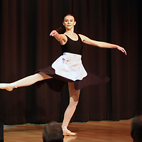 """Adrienne Hildenbrand performs a piece from the ballet """"Cinderella"""" Saturday at the Tupelo Elvis Presley Fan Club's Music Scholarship competition at Elvis Presley's birthplace"""