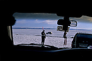 Mongolia. the frozen Khuvsgul lake become a road in winter  Khuvsgul province -