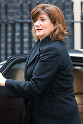 Downing Street, London, October 27th 2015.  Education Secretary Nicky Morgan arrives at 10 Downing Street to attend the weekly cabinet meeting. /// Licencing: Paul Davey tel: 07966016296 or 02089696875 paul@pauldaveycreative.co.uk www.pauldaveycreative.co.uk