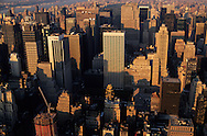 New York. midtown . elevated view. Panoramic view on Manhattan midtown /  vue panoramique sur Manhattan midtown   New York  USa