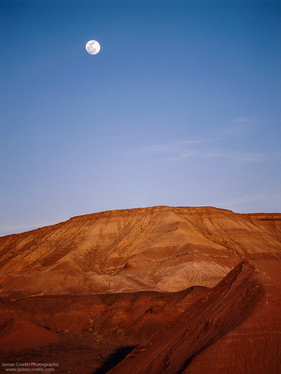 Moonrise over the Painted Desert on the Navajo Indian Reservation in Arizona