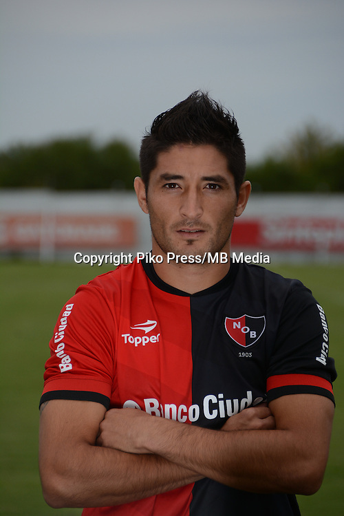 CAMPEONATO ARGENTINO Soccer / Football. <br /> NEWELLS OLD BOYS from Rosario  - Portraits <br /> Bs.As. Argentina. - May 31, 2015<br /> Here Newells Old Boys player Milton Casco<br /> &copy; PikoPress