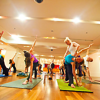 Jennifer Ellen - Mueller leads yoga class at Prana Yoga Trolley Square in Salt Lake City.  Jennifer is a co-owner of Prana Yoga along with Matt Newman and Scott Moore.