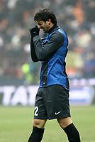 """Delusione Diego Milito Inter.Milano 22/12/2012 Stadio """"S.Siro"""".Football Calcio Serie A 2012/13.Inter v Genoa.Foto Insidefoto Paolo Nucci."""