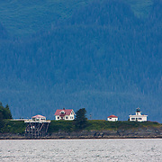 Point Retreat Lighthouse in Auke Bay near Juneau, Alaska.<br /> Photography by Jose More