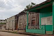 Collapsing houses in Mayari, Holguin, Cuba.