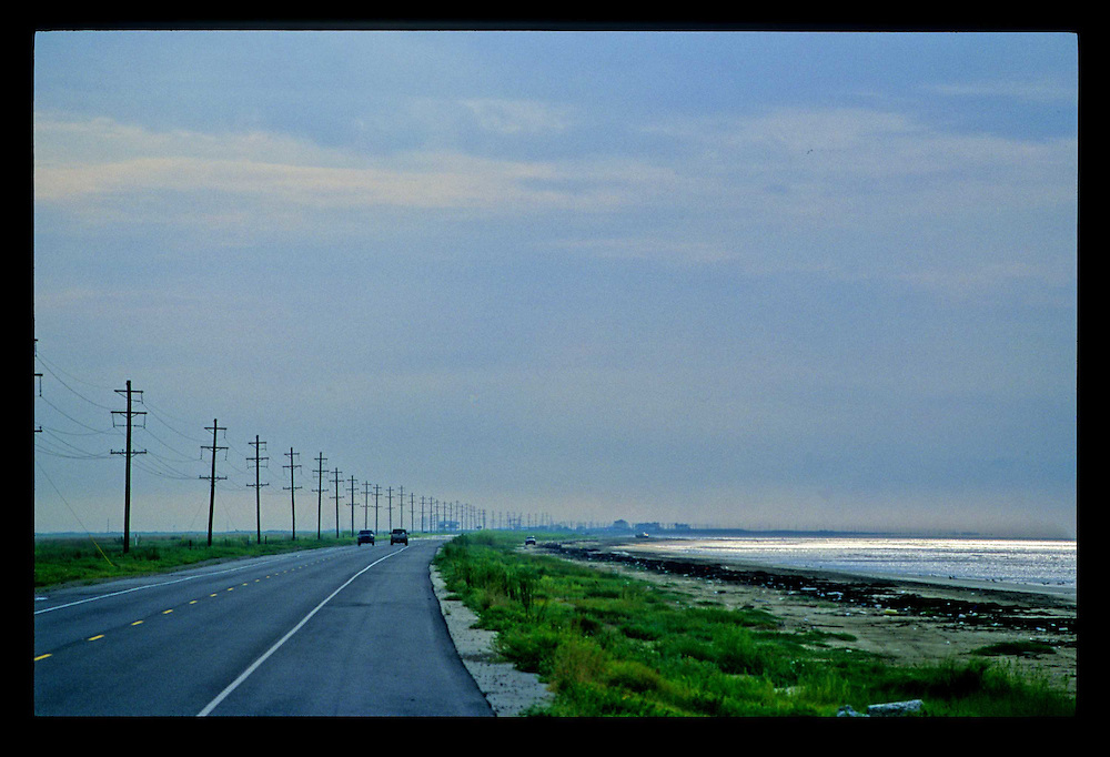 Gulf of Mexico, LA State Rte. 82, Mid-Morning, Summer