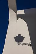 Shadow, street lamp, Spain; Arcos de la Frontera