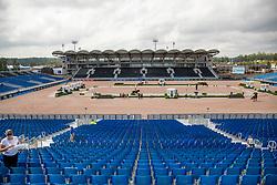 Übersicht Hauptstadion<br /> Tryon - FEI World Equestrian Games™ 2018<br /> Hintergrundbilder vom Veranstaltungsgelände<br /> 10.September 2018<br /> © www.sportfotos-lafrentz.de/Stefan Lafrentz