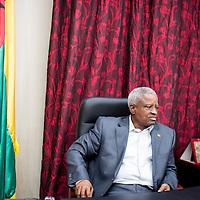 05/03/2014. Bissau. Guinée Bissau. Entretien avec le président de transition Manuel Serifo Nhamadjo. ©Sylvain Cherkaoui pour JA.