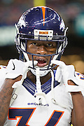 NEW ORLEANS, LA - NOVEMBER 13:  Will Parks #34 of the Denver Broncos warming up before a game against the New Orleans Saints at Mercedes-Benz Superdome on November 13, 2016 in New Orleans, Louisiana.  The Broncos defeated the Saints 25-23.  (Photo by Wesley Hitt/Getty Images) *** Local Caption *** Will Parks