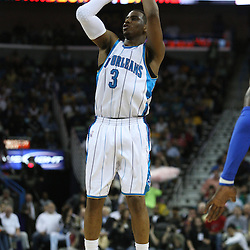 18 February 2009: New Orleans Hornets guard Chris Paul (3) shoots during a NBA basketball game between the Orlando Magic and the New Orleans Hornets at the New Orleans Arena in New Orleans, Louisiana.