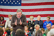 The Republican presidential candidate Jeb Bush (FL) holds a campaign event at the Colby Sawyer College in New London, NH. ahead of the primaries.