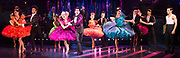 Strictly Ballroom <br /> By Baz Luhrmann <br /> At The Piccadilly Theatre, London, Great Britain <br /> Press photocall <br /> 17th April 2018 <br /> <br /> <br /> Stephen Matthews as Doug Hastings <br /> Anna Francolini as Shirley Hastings <br /> <br /> And company