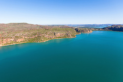 Aerial view of the Hunter River in the Kimberley region of Western Australia.