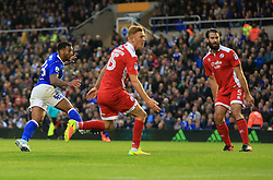 David Davis of Birmingham City wheels away after he extends his sides lead (2-0) - Mandatory by-line: Paul Roberts/JMP - 08/08/2017 - FOOTBALL - St Andrew's Stadium - Birmingham, England - Birmingham City v Crawley Town - Carabao Cup
