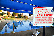 Outdoor Swimming pool warning sign