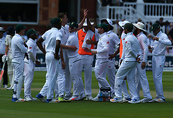 July 6, 2017 - London, England, United Kingdom - Morne Morkel of South Africa  cerebrate LBW on England's Gary Ballance  .during 1st Investec Test Match between England and South Africa at Lord's Cricket Ground in London on July 06, 2017  (Credit Image: © Kieran Galvin/NurPhoto via ZUMA Press)
