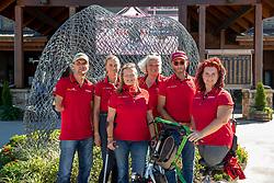 ZEIBIG Steffen (GER), MISPELKAMP Regine (GER), PHILIPP Elke (GER), BANDO Britta (Chef d´Equipe), FLIEGL Bernhard (Bundestrainer), TRABERT Dr. Angelika (GER)<br /> Tryon - FEI World Equestrian Games™ 2018<br /> Deutsche Para-Dressur Teamfoto<br /> September 2018<br /> © www.sportfotos-lafrentz.de/Stefan Lafrentz
