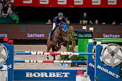 GRIESE Henrik (GER), ECL Corvo<br /> Leipzig - Partner Pferd 2019<br /> Zeitspringprüfung<br /> Preis des Auto Center Leipzig<br /> 19. Januar 2019<br /> © www.sportfotos-lafrentz.de/Stefan Lafrentz