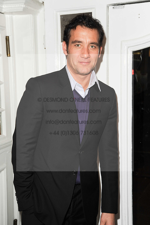 CLIVE OWEN at an In-House screening of 'Sweet Smell of Success' hosted by Clive Owen presented by Tod's in association with Amend held at The Electric Cinema, 191 Portobello Road, London W11 on 29th November 2010.