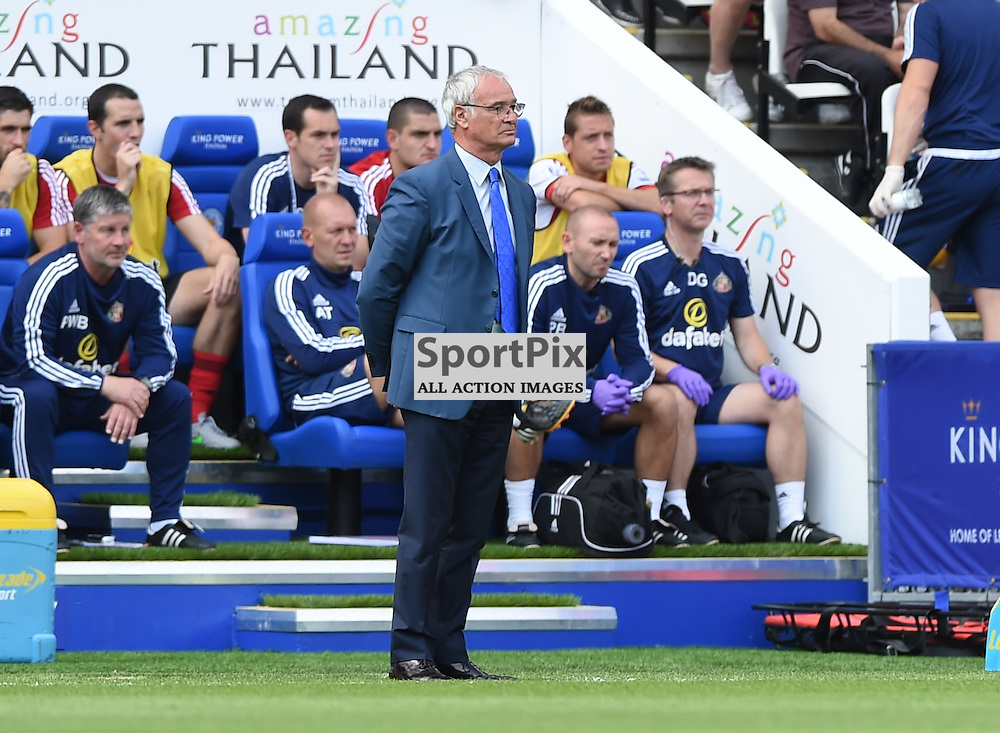 Claudio Ranieri taking charge of leicester City for the first time in the Premier League (c) Simon Kimber | SportPix.org.uk