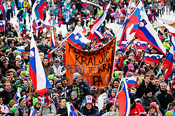 Supporters during the Ski Flying Hill Individual Competition at Day 1 of FIS Ski Jumping World Cup Final 2016, on March 17, 2016 in Planica, Slovenia. Photo by Vid Ponikvar / Sportida