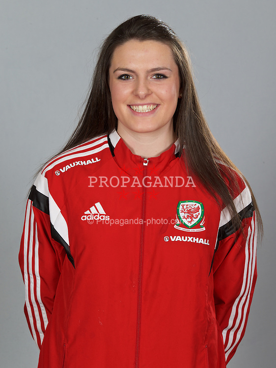 NEWPORT, WALES - Sunday, February 8, 2015: Wales' Emily Hollinshead. (Pic by David Rawcliffe/Propaganda)